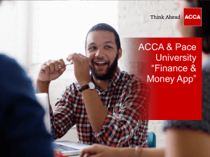 Finance and Money App presented by Warner Johnston from ACCA