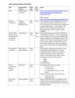 AAC Communication Log (07/10/2013)