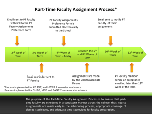 Part-Time Faculty Assignment Process*