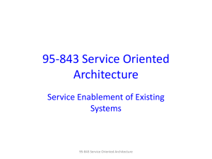 95-843 Service Oriented Architecture Service Enablement of Existing Systems