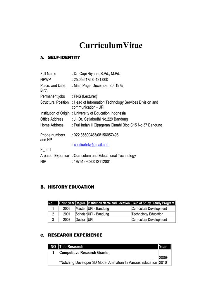 Curriculum Vitae Cepi Docx