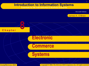 chap008 - Electronic Commerce Systems.ppt
