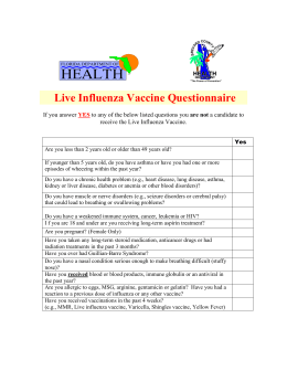 Live Influenza Vaccine Questionnaire (2)