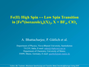 Bhattacharjee_Spin crossover.ppt
