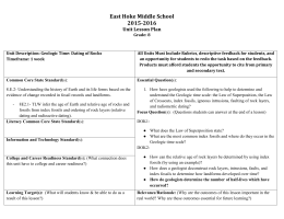 East Hoke Middle School 2015-2016 Unit Lesson Plan