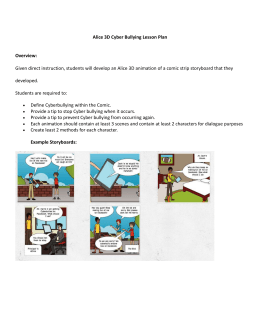 Alice 3D Cyber Bullying Lesson Plan Overview: