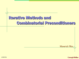 Iterative Methods, Preconditioners (. ppt )