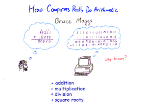 How Computers Really Do Arithmetic (. ppt )