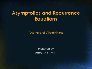 Asymptotics and Recurrence Equations