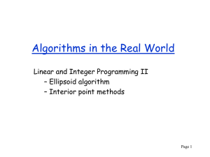 Algorithms in the Real World Linear and Integer Programming II