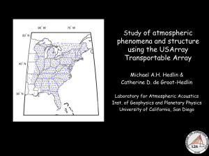 of atmospheric phenomena and structure using the USArray Transportable Array