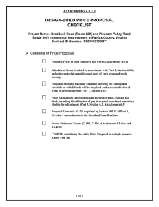 RFP Attachment 4.0.1.2 Price Proposal Checklist