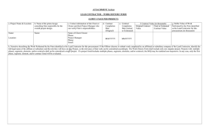 RFQ Attachment 3.4.1(a) Work History Form Lead Contractor
