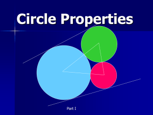 Circle Properties Part I