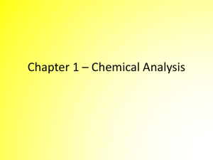 Chemical Analysis Powerpoint