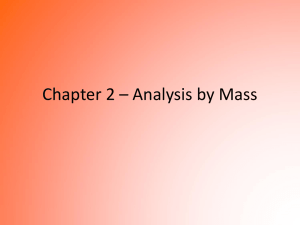 Gravimetric Analysis Powerpoint