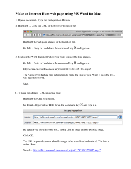 Make a simple web page using MS Word.doc