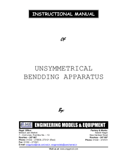 Unsymmetrical Bending Apparatus