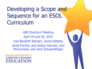 ESOL ScopeSequence Director