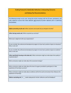 Guiding Protocol for Stakeholder Reflection in Interpreting Outcomes