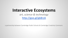 Interactive Ecosystems art, science & technology
