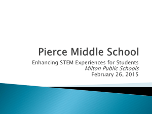 Milton Public Schools Enhancing STEM Experiences for Students February 26, 2015