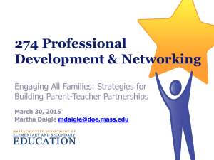 building parent teacher partnerships
