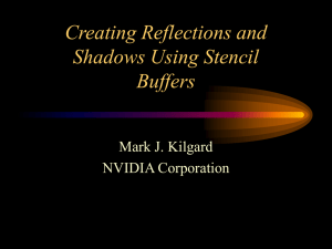 Uses of the Stencil Buffer