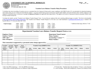 Departmental Vacation Leave Balance Transfer Request Form