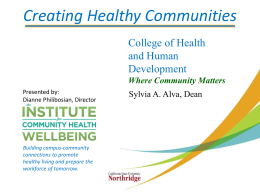 Download the Collaborating for Health and Wellness presentation (PowerPoint)