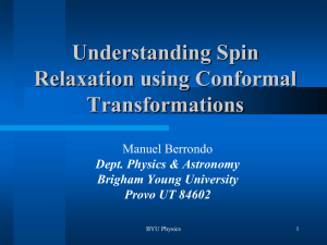 Understanding Spin Relaxation using Conformal Transformations