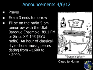 Announcements 4/6/12
