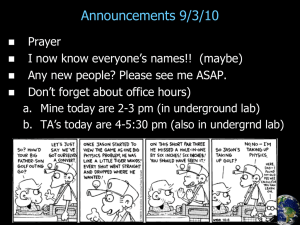 Announcements 9/3/10
