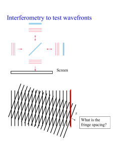 Interferometry to test wavefronts  Screen What is the