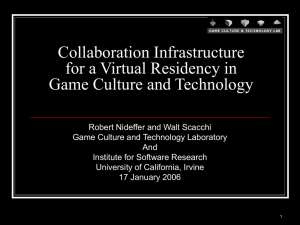 Collaboration Infrastructure for a Virtual Residency in Game Culture and Technology