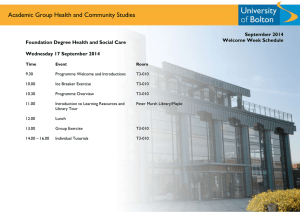 Academic Group Health and Community Studies