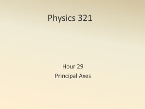 Physics 321 Hour 29 Principal Axes