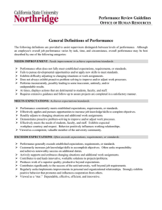 Performance Evaluation Definitions
