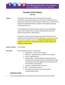 Founders Grant Policies
