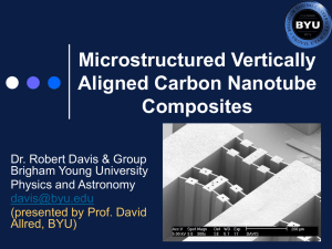 Microstructured Vertically Aligned Carbon Nanotube Composites Dr. Robert Davis & Group