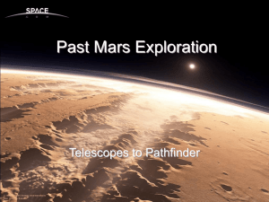 Past Mars Exploration Telescopes to Pathfinder