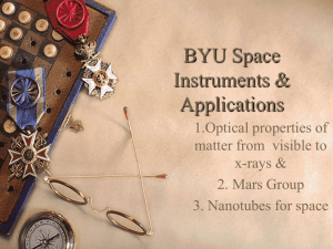 BYU Space Instruments Applications