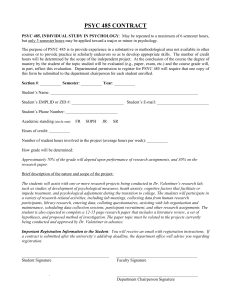 PSYC 485 CONTRACT