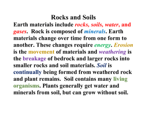 Rocks and Soil Benchmark Statement for Students