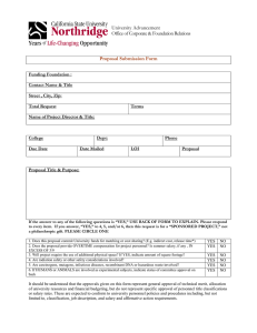 Proposal Submission Form