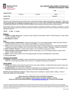 EEOC Information Form (Civil Service)