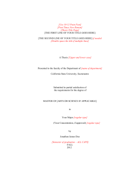 Dissertation introduction  Subject   Theology   Religion             JFC CZ as