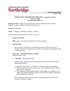 EXECUTIVE COMMITTEE MINUTES –  ___________Faculty Senate Office