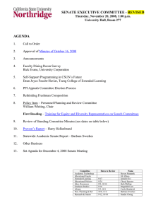 SENATE EXECUTIVE COMMITTEE - REVISED AGENDA