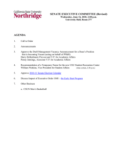 SENATE EXECUTIVE COMMITTEE (Revised)  AGENDA